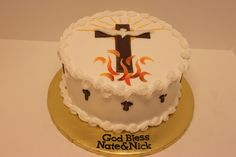 Confirmation Cake For Cousins on Cake Central