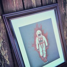 Head over to the #halftoneshow Facebook page to win this framed artist proof of #voyage #screenprint #space #felix #felixbaumgartner would be proud!