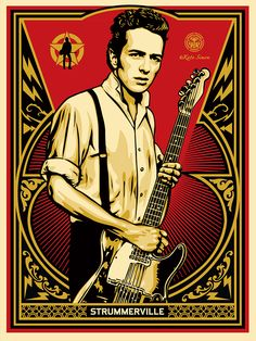 JOE STRUMMER by Shepard Fairey OBEY ジョー・ストラマー
