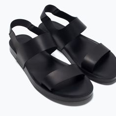 Zara Men sandals - Summer is calling Chunky Sandals, Cute Sandals, Shoes Sandals, Zara, Sandals 2014, Formal Shoes For Men, Kinds Of Shoes, Comfy Shoes, Leather Men
