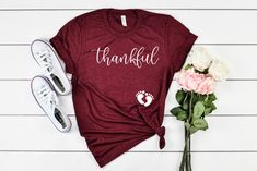 Thanksgiving Pregnancy Shirt Announcement To Husband Pregnancy Announcement Shirt Pregnancy Reveal Baby Announcement Thanksgiving Shirt Thanksgiving Baby Announcement, Pregnancy Announcement To Husband, Father Son Matching Shirts, Gifts For New Dads, Baby Family, Pregnancy Shirts, Family Shirts, T Shirts For Women, Etsy