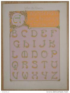 Lettres et Enseignes Art Nouveau - 1ère Série - Etienne Mullier (1900) - Pl 5 Lettres curvilignes