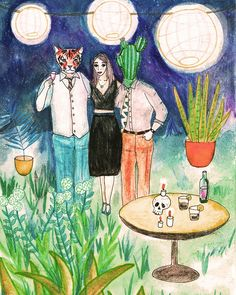 Amistades peligrosas! #animal #party #ilustration Angela, Painting, Art, Friendship, Illustrations, Art Background, Painting Art, Paintings, Kunst