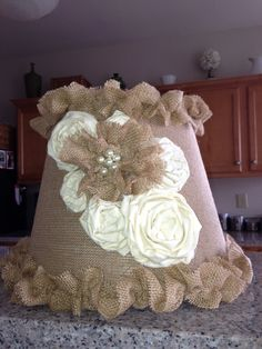 not so much the lampshade but could use some of the flower ideas for the pillowcase