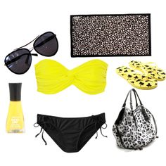 Day at the beach, created by kaitepowell on Polyvore