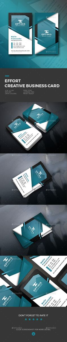 Buy Effort Creative Business Card by shapetrick on GraphicRiver. Features: 2 PSD File include Rounded Corners Die cut printing possible Print Size (Bleed size x Vintage Business Cards, Artist Business Cards, Simple Business Cards, Professional Business Cards, Business Card Design, Creative Business, Architecture Logo, Envato Elements, Corporate Design