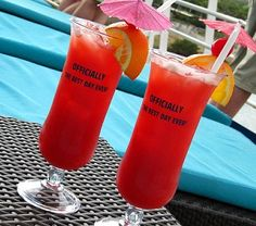 The Funship Recipe - Carnival Cruise Lines -  blend all: 1.5oz Bacardi light rum, 1oz vodka, 1/4oz apricot brandi, 1/4oz ameretto, & 6oz fruit punch!