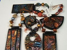 set of pendants - 2005 by polymerclaybeads, via Flickr