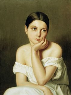 Image: Théodore Chassériau - Th.Chass?Šriau, Portrait of sister Aline