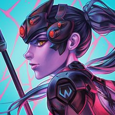 Widowmaker by munette.deviantart.com on @DeviantArt - More at https://pinterest.com/supergirlsart #overwatch #fanart