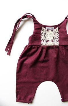 Linen & Lace jumpsuit-linen romper/jumpsuit by StandardOfGraceShop