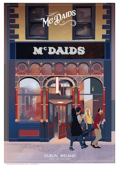 McDaids Pub in Dublin, Ireland. Medan, Pub Signs, Paper Artist, Rest Of The World, Travel Posters, Irish, Poster Prints, City, Dublin Ireland