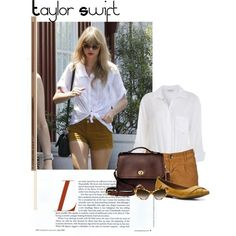 I Love this outfit and it was in the fashion police section in the US magazine. I was sooooooo mad! Taylor Swift Outfits, Taylor Swift Style, Taylor Alison Swift, Bowties, Police, Mad, Blazers, Oxford, Cover Up