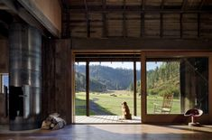 Canyon Barn - eclectic - family room - seattle - MW|Works Architecture+Design