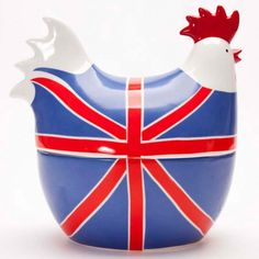 Union Jack egg crock.