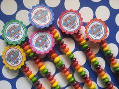 Paw patrol 1x8 Candy bag also for doc mcstuffins, Frozen, lalaloopsy, Elmo, angry birds, ninjago,Chuggington, PJ Masks, shopkins, Spiderman by bellecaps on Etsy