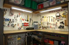 Organized tool - I love this idea in my garage nook but this one  is to messy