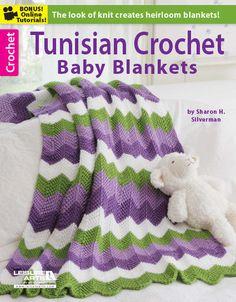 Tunisian Crochet Baby Blankets/ 8 different patterns/ all very nice/ TUNISIAN CROCHET
