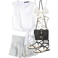 Untitled #17511 by florencia95 on Polyvore featuring TIBI, Base Range, Hanky Panky, Rebecca Minkoff, Voom and Topshop