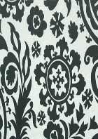 Drapery Fabrics - Suzani Charcoal Slub Premier Prints