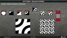 Martin de Graaf   Texture Artist - Material Study: Grass Pavers Substance Designer Tutorial, Grass Pavers, Artist Materials, Uv Mapping, Game Art, Study, Texture, Cgi, Objects