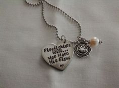 Hand Stamped Necklace - for Firefighters Wife.... $24  www.etsy.com/shop/bodyblingtexas