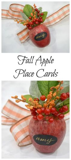 These place cards are an elegant way to bring touches of fall to your table decor.