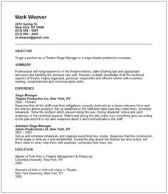 Sample Theater Resume 28 Sle Career Goals For Resume Collegesinpa Org  News To Go 2 .
