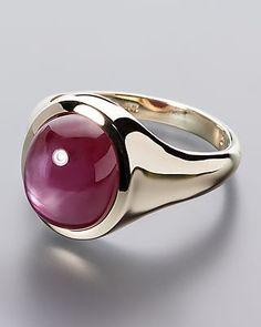 Glamouröser Ring mit funkelndem Sternrubin von Sogni d´oro