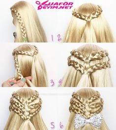 Triple braided half-up doll hairstyle. Triple braided half-up doll hairstyle. Ag Doll Hairstyles, Half Braided Hairstyles, American Girl Hairstyles, Baby Girl Hairstyles, Braided Half Up, Choppy Hairstyles, Asian Hairstyles, Toddler Hairstyles, Modern Hairstyles