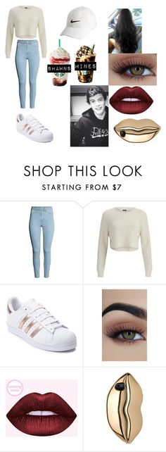 """""""starbucks with shawn mendes"""" by lilianaduarte1234 ❤ liked on Polyvore featuring H&M, 2NDDAY, Nike Golf, adidas and STELLA McCARTNEY"""