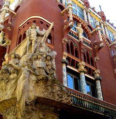 Palau de la Música Catalana in Spain http://www.gypsynester.com/gaudi.htm