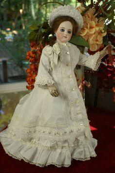 HOLD For LG~Stunning Portrait Jumeau Poupée Bois from bebesatticfinds on Ruby Lane