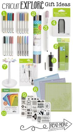 Gift Ideas for the Cricut Explorer Crafter - looking for ideas to give someone who already has a Cricut Explore Cutting Machine.