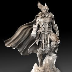 Hi everyOne, I decided to create a New Thread, but only to show the sculpts in a full clay material. Vikings, Norse Mythology Tattoo, Celtic Warriors, The Mighty Thor, Marvel Comics Art, Fantasy Miniatures, Character Modeling, Fantasy Artwork, Zbrush
