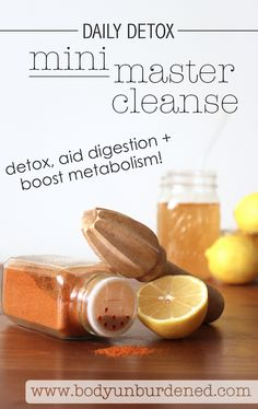 The mini master cleanse is a great painless daily detox practice. Both lemon and cayenne pepper promote detoxification aid digestion and boost your metabolism (meaning yes you may even experience weight loss over the long run! Diet Plans To Lose Weight, Ways To Lose Weight, Good Healthy Recipes, Real Food Recipes, Healthy Drinks, Lemon Vitamin C, Smoothies, Lemon Benefits, Gastronomia