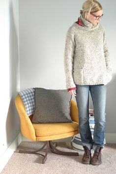 kaari pattern by norah gaughan. knit with Lion Brand Fisherman's Wool (affordable & awesome)