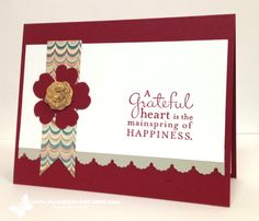 Clean and Simple Grateful Heart, Pursuit of Happiness, Stampin' Up!, Maggie Mata