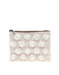 ASOS - Pochette ornée de fleurs en perles