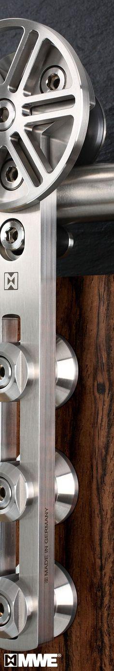 CHRONOS door hardware manufactured by MWE! Designed by Mario Wille! Great! www.mwe.de/en/door-systems/sliding-doors/classical-sliding-doors/sliding-door-chronos