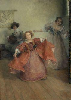 Laura Theresa Alma Tadema (1872-1909) - Airs & Graces, huile sur toile, 56,5 x 41 cm, Rijksmuseum, Amsterdam