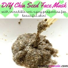 Make a DIY chia seed face mask for youthful skin!