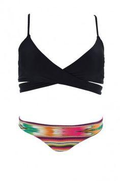 L*Space Swimwear 'Chloe Cozumel' 2014 | Orchid Boutique $147 #brazilian #bottom #wrap #top #bikini #swimwear #swimsuit