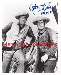 WAGON TRAIN Robert Fuller / Cooper SIGNED Autograph 8x10 B&W Photo