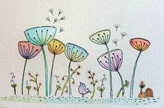Watercolour and pen doodle...
