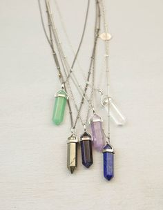 Crystal Point Long Necklace // Long Chakra by BohemianFringe