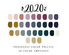 Graphic design and Affirmations by BrushAndBarley on Etsy Sunset Color Palette, Neutral Colour Palette, Pantone Colour Palettes, Pantone Color, Purple Color Palettes, Paint Palettes, Hygge, Color Balance, Balance Design
