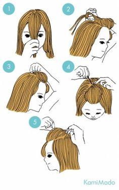 penteados básicos topete