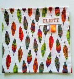 serviette de table enfant no 23 ,personnalisable , en coton :plumes de toutes…