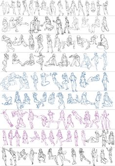 figure drawing refereces — anatoref: Gesture Studies, by Ben Li Body Reference Drawing, Drawing Body Poses, Anime Poses Reference, Female Drawing, Human Figure Drawing, Figure Sketching, Gesture Drawing, Character Drawing, Design Reference